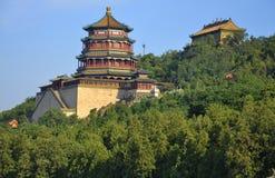 结构中国foxiangge宫殿夏天塔 图库摄影