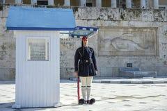 结构体正方形的在希腊议会,雅典,希腊战士 图库摄影