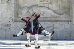 结构体正方形的在希腊议会,雅典,希腊战士 免版税库存图片