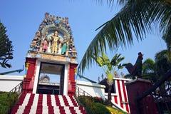 结构印第安新加坡寺庙 库存照片