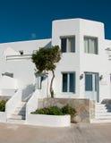 结构古典希腊语房子白色 库存照片