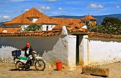 结构哥伦比亚de leyva典型的别墅 免版税库存图片