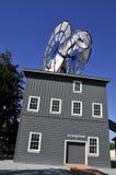 结构唯一风车 免版税库存照片