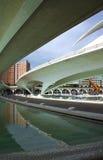 结构商展未来派西班牙 免版税库存照片