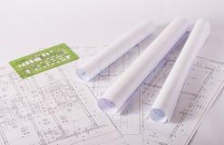 结构图纸 库存图片