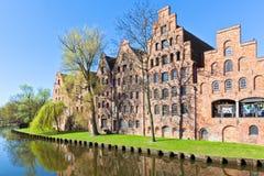 结构在吕贝克,德国。 免版税库存照片
