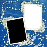 结构在照片二上写字 免版税库存图片
