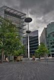 结构块伦敦现代办公室 库存图片