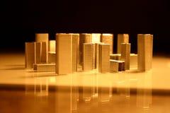 结构城市我钉书针 库存照片
