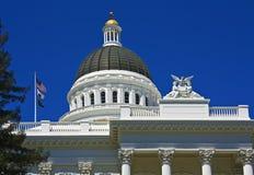结构壮观加利福尼亚的国会大厦 免版税库存照片