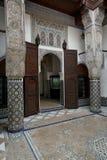 结构室内摩洛哥人 库存照片