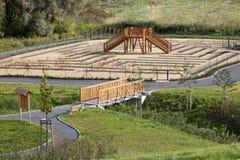 结构庭院公园 免版税库存照片