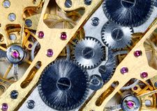 结构手表 免版税库存图片