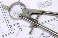 结构指南针 免版税库存照片