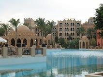 结构旅馆池 库存照片