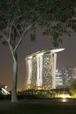 结构树和海滨广场海湾沙子 免版税库存图片