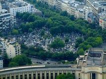 结构树在一个老墓地,巴黎,法国 免版税库存图片