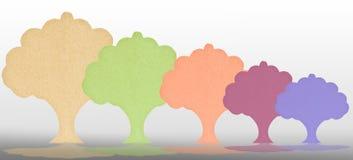 结构树被回收的纸张。 库存照片