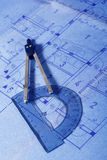 结构概想计划 库存照片