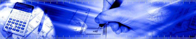 结构横幅 免版税库存照片