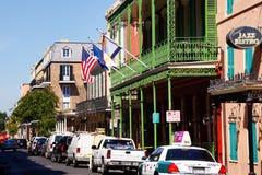 结构法国新奥尔良季度 库存图片