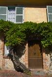 结构法国gerberoy老村庄 免版税库存照片