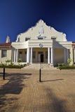结构海角荷兰语franschhoek大厅城镇 免版税库存照片