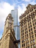 结构混合的芝加哥 免版税图库摄影