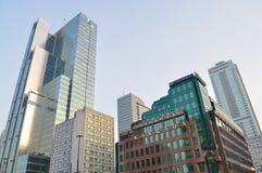 结构现代华沙 图库摄影