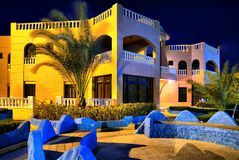 结构现代埃及的旅馆 免版税库存图片
