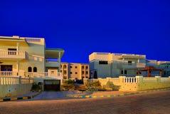 结构现代埃及的旅馆 免版税库存照片