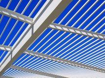 结构现代屋顶 免版税库存图片