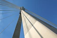 结构现代桥梁的详细资料 免版税图库摄影