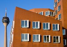 结构现代的杜塞尔多夫 免版税库存照片