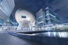 结构现代的香港 免版税库存照片