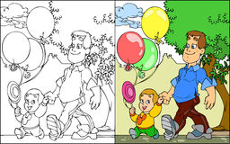 结构的父亲和儿子 免版税库存图片