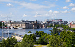 结构美好的斯德哥尔摩视图 免版税图库摄影