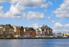 结构美好的斯德哥尔摩视图 免版税库存照片