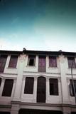 结构老土气shophouses 库存图片