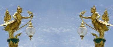 结构艺术在泰国佛教寺庙的。 免版税库存照片