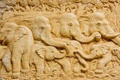 结构艺术大象 库存图片