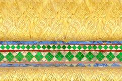 结构艺术泰国样式的寺庙 免版税库存照片