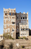 结构萨纳传统也门也门 免版税库存照片