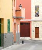 结构西班牙都市 免版税图库摄影