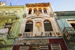 结构详细资料老哈瓦那 免版税库存照片