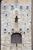 结构详述中世纪的门 免版税库存图片