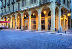 结构贝鲁特都市街市的黎巴嫩 免版税库存照片