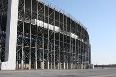 结构跑道体育场 库存图片