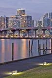 结构迈阿密晚上 免版税库存图片