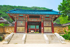 结构韩文寺庙 库存照片